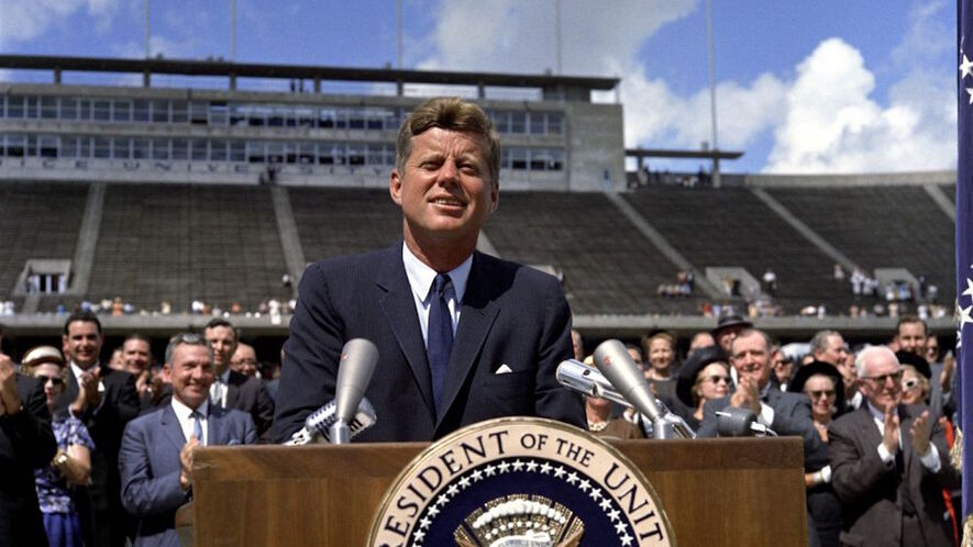 famous speeches john f kennedy s we choose to go to  president john f kennedy speaks about the nation s space efforts at rice university in houston