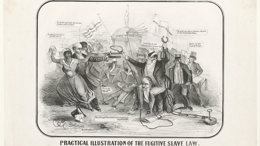 the fugitive slave law of 1850 The fugitive slave act of 1850 meant that if you were an escaping slave or a  slave who had escaped to a free northern state, then you could be hunted down  by.