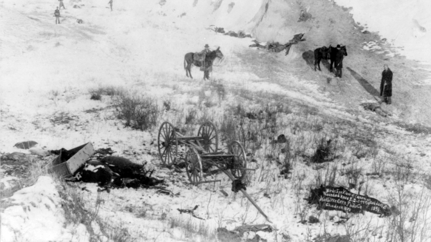 47b94bdbca A view of the canyon at Wounded Knee in South Dakota, where more than 150  Lakota men, women and children were massacred by U.S. Army soldiers in 1890.
