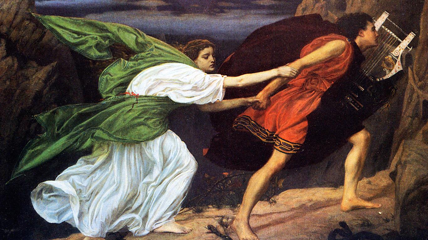 Top Orpheus And Eurydice  By Edward Poynter Image Wikicommons Below