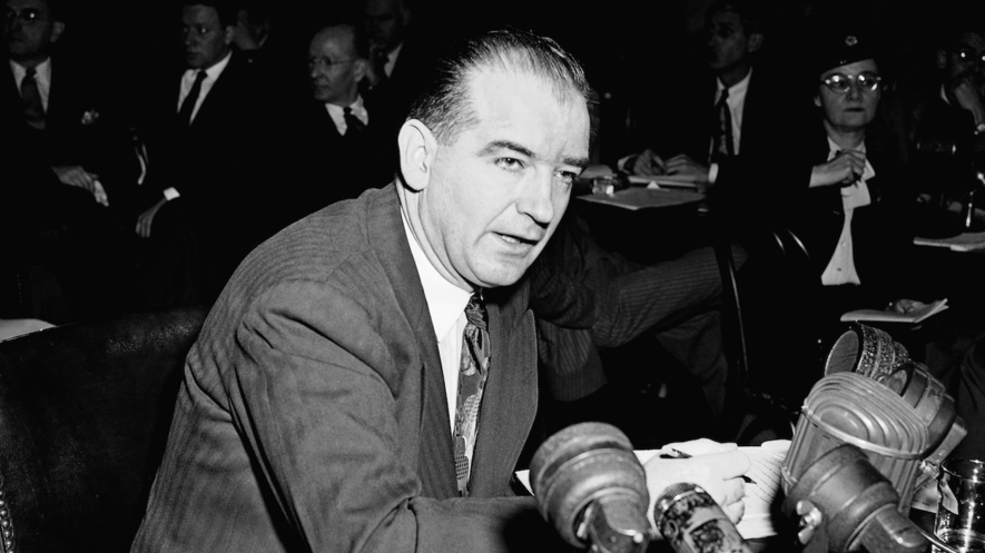 Republican Senator Joseph McCarthy Of Wisconsin Speaks To The Senate Foreign Relations Subcommittee On March 14