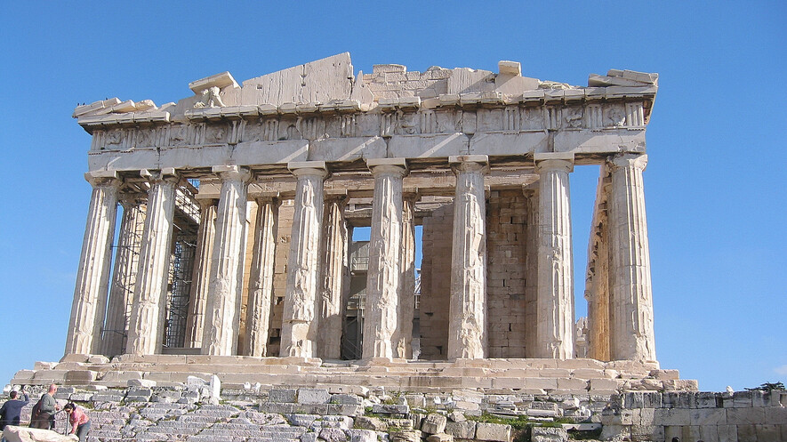 0746502e6d The western side of the Parthenon in Athens, Greece. The art and  architecture that the Greeks left behind helps people today understand what  was important ...