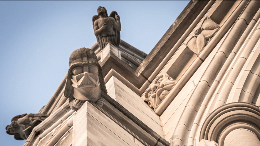 newsela a church where angels and darth vader mingle