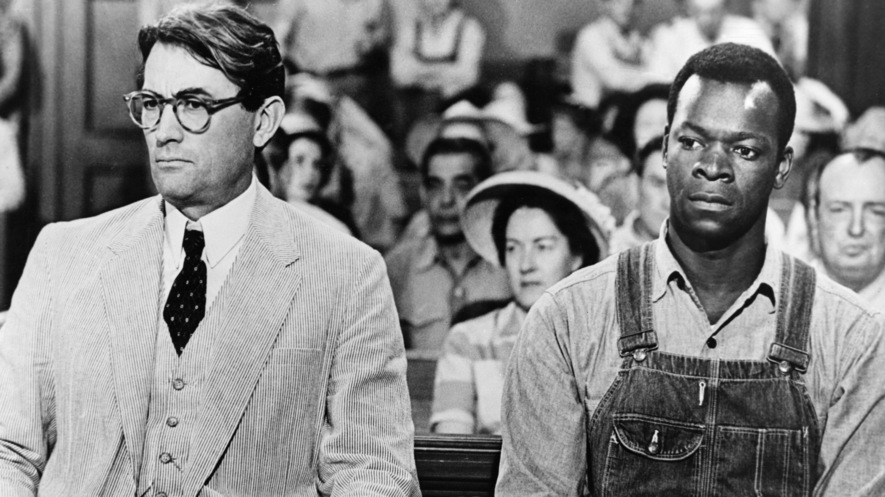 The Characters Atticus Finch Left And Tom Robinson In Movie Version Of