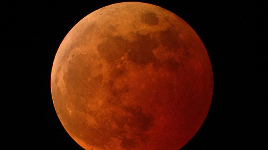 Image 1. A picture of the moon. It shows a lunar eclipse during totality. Photo from NASA