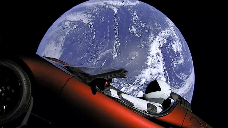 Newsela - Elon Musk sends his own car on a new SpaceX rocket