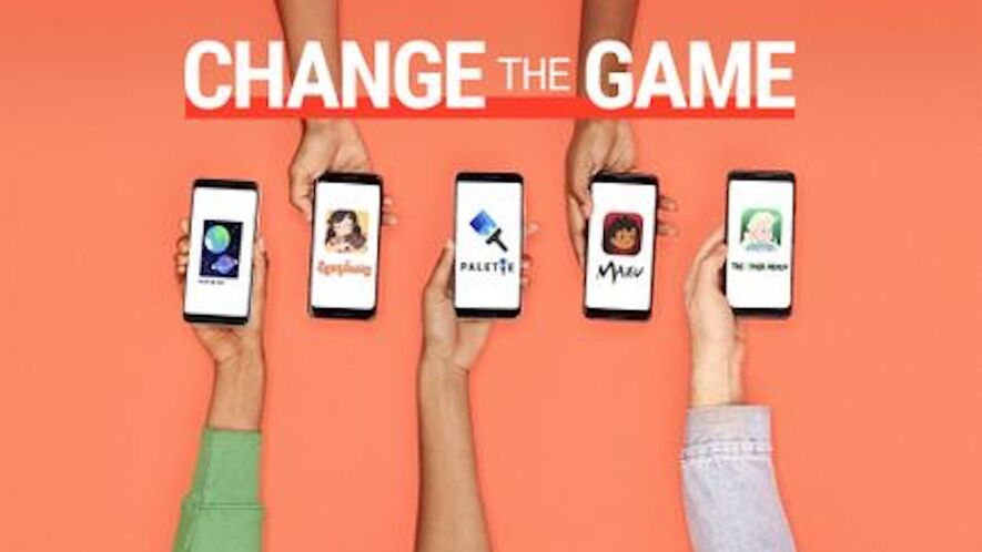 All five of these apps were designed by the teen winners of Google's Change The Game Design Challenge. Photo by: Google