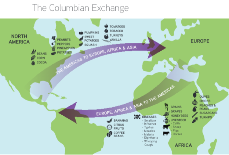 Newsela Back And Forth Across The Atlantic In The Columbian Exchange
